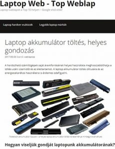 laptop akkumulátor töltő